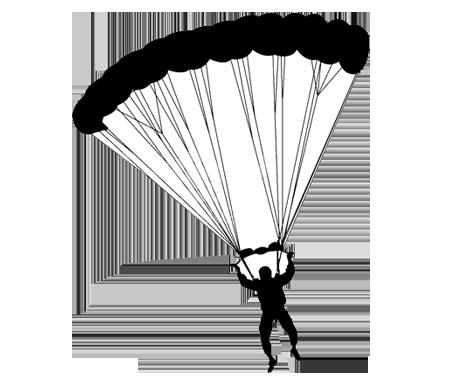 Ecole de parachutisme perfectionnement aux diff rentes - Dessin parachutiste ...